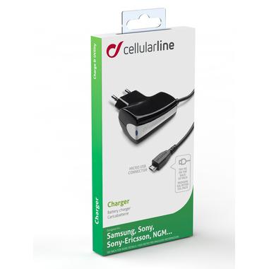 Cellularline Charger - Samsung Caricabatterie 5W compatto e sicuro Nero