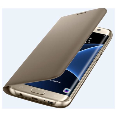 Samsung FLIP Wallet Galaxy S7 edge Foglio Oro