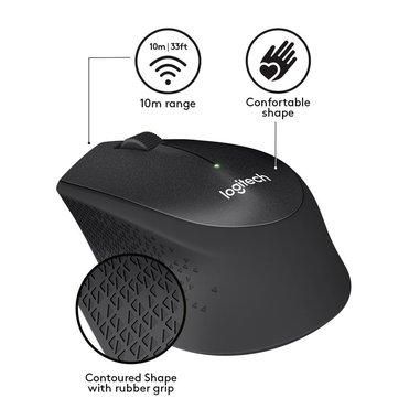 Logitech M330 mouse RF Wireless Meccanico 1000 DPI Mano destra Nero