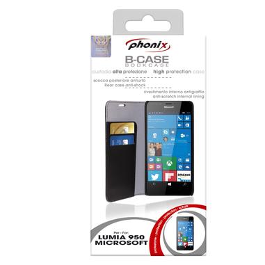 Phonix Custodia a libro per Microsoft Lumia 950 nera