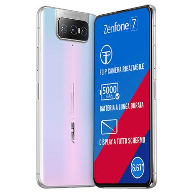 "ASUS ZenFone 7 ZS670KS-2B015EU 16,9 cm (6.67"") 6 GB 128 GB Doppia SIM 5G USB tipo-C Bianco Android 10.0 5000 mAh"