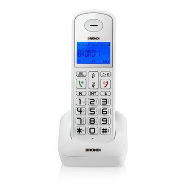 Brondi bravo style dect telefono cordless bianco - Telefoni cordless design ...
