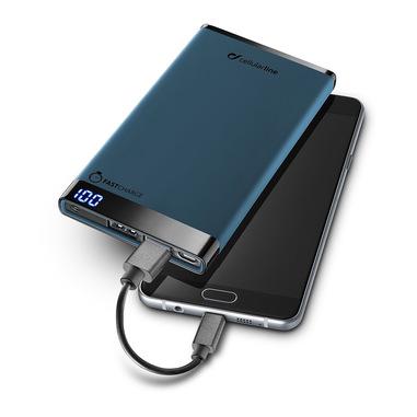 Cellularline Freepower Manta 6000 - Universale Caricabatterie portatile sottile, veloce, potente Blu