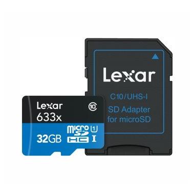 Lexar 32GB microSDHC 32GB MicroSDHC UHS-I Classe 10 memoria flash