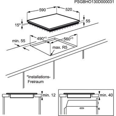 Electrolux Rex EHH 6540 FW1 Incasso Induzione Bianco piano cottura