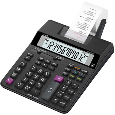 Casio HR-200RCE calcolatrice con stampa Nero