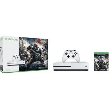 Microsoft Xbox One S + Gears of War 4 1000GB Wi-Fi Bianco