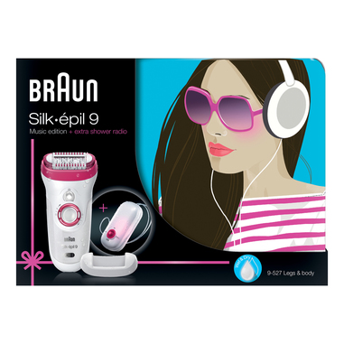 Braun Silk-épil 9 9-527 Music edition con Radio da Doccia