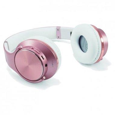 Conceptronic CHSPBTNFCSPKR Padiglione auricolare Stereofonico Senza fili Oro rosa, Bianco auricolare per telefono cellulare