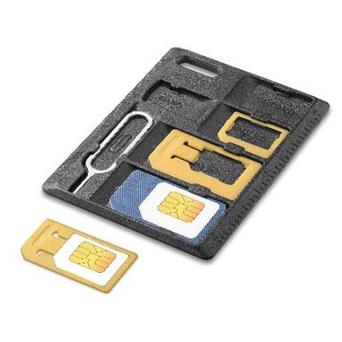 Cellularline Sim Adapter Kit Pratico Kit per avere sempre tutte le SIM a portata di mano Nero