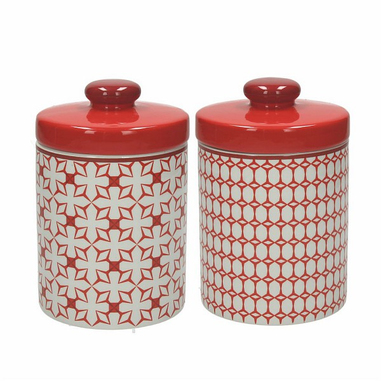 Tognana Porcellane Barattolo Medio Kubik Rosso