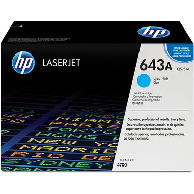 HP 643A Cartuccia laser 10000pagine Ciano
