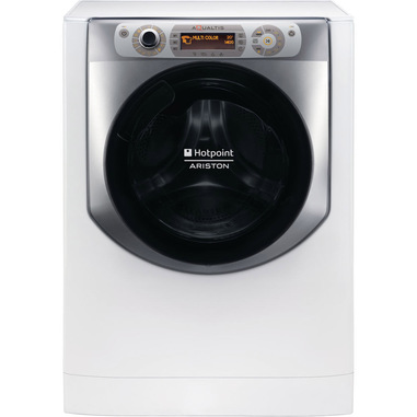 Hotpoint AQ94D497SD EU/B N lavatrice Libera installazione Caricamento frontale Argento, Bianco 9 kg 1400 Giri/min A+++