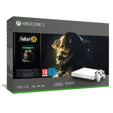 Microsoft Xbox One X Robot White Special Edition + Fallout 76 Bianco 1000 GB Wi-Fi