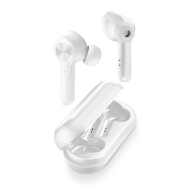 Cellularline Elusion - Universale Auricolari true wireless in-ear «No-wires» con custodia di ricarica Bianco