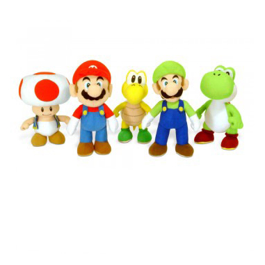 BG Games Mario Bros Plush - New