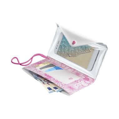 Cellularline Voyager Pochette - Universale Custodia per il mare con tasca porta carte e banconote Rosa