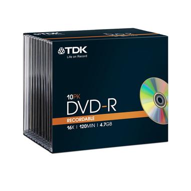 TDK 10 x DVD-R 4.7GB 4.7GB DVD-R 10pezzo(i)