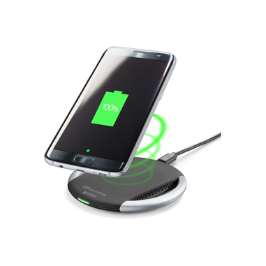 Cellularline WIRELESS FAST CHARGER - Wireless Smartphones with Adaptive Technology Caricabatterie senza fili per dispositivi a carica veloce adattiva Nero