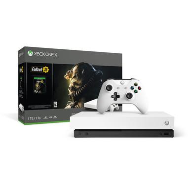 Microsoft Xbox One X 1000GB Wi-Fi bianca edizione speciale Robot + Fallout 76