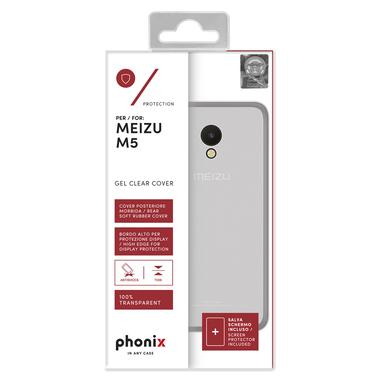 Phonix MZUM5GPW Custodia Trasparente custodia per Meizu M5
