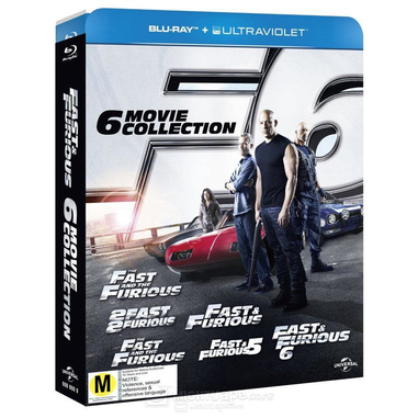 Fast & Furious - 6 Film Collection, 6 Blu-ray