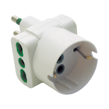 FME 87190 adattatore triplo bianco