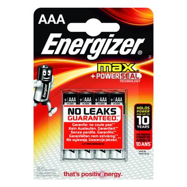 Energizer AAA Max alcalina 4 pzz.