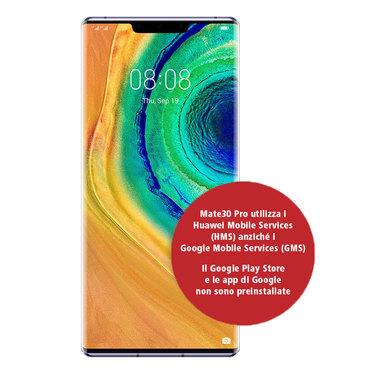 "Huawei Mate 30 Pro 16,6 cm (6.53"") 8 GB 256 GB Dual SIM ibrida 4G USB tipo-C Argento Android 10.0 Huawei Mobile Services (HMS) 4500 mAh"