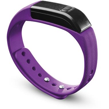 Cellularline Easy Fit - Universale Il fitness tracker intuitivo Viola Nero