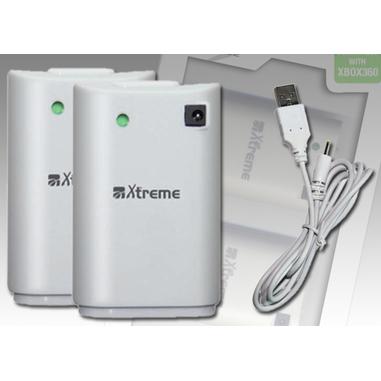 Xtreme 65382 kit 2 batterie e cavo di alimentazione