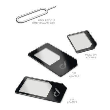 Cellularline Universal Sim Adapters Kit di adattatori per micro SIM e nano SIM Nero