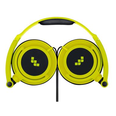 MySound Speak SMART FLUO Padiglione auricolare Stereofonico Cablato Nero, Giallo auricolare per telefono cellulare