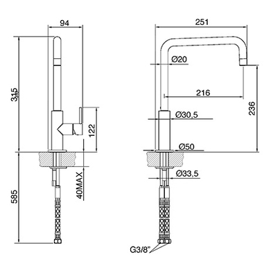 Smeg MC18AV rubinetto