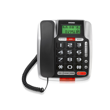 Brondi Bravo 105 LCD Nero Telefono analogico Identificatore di chiamata Nero