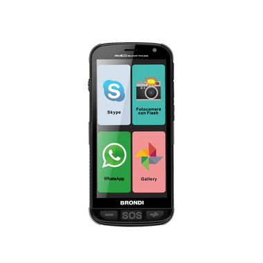 "Brondi Amico 12,7 cm (5"") 0,5 GB 4 GB Doppia SIM 3G Micro-USB Nero Android 5.1 2000 mAh"